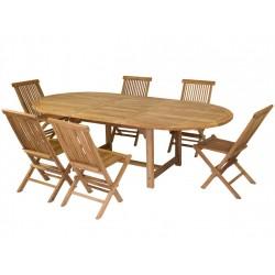 Mesa y Sillas madera de Teca