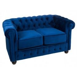 Sofá Chester 2 plazas Azul
