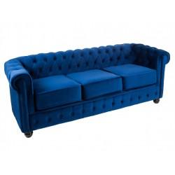 Sofá Chester 3 plazas Azul