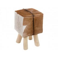Taburete madera y piel