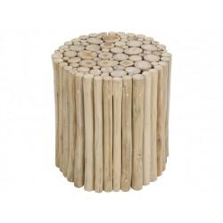 Taburete redondo troncos