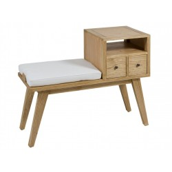 Pie de cama madera colonial