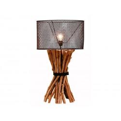 Lámpara sobremesa troncos