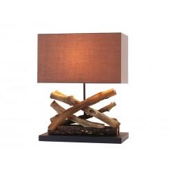 lámpara mesa madera