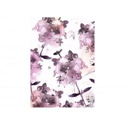 Cuadro óleo flores lilas