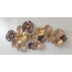 Decoración metal Flores