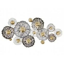 Flores metal pared