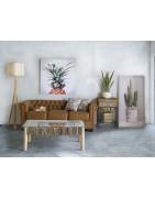 Mesas para decorar tu salón en madera y lacados